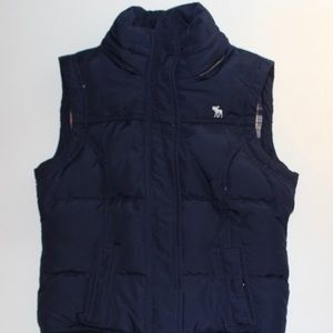 Abercrombie Girl's Vest With Removable Hood